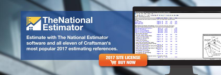 2017 National Estimator Site License