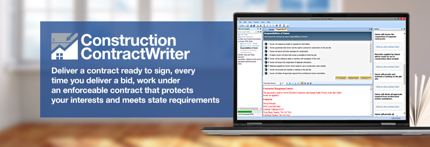 Construction Contract Writer Software