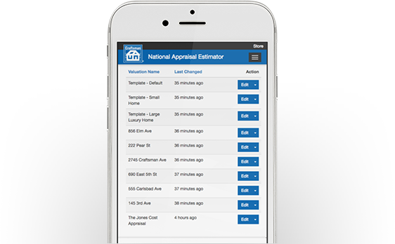 National Appraisal Estimator Templates