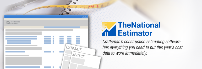 The National Estimator Software and Cost Data for Construction Estimates and Invoices
